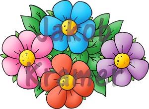Køb tegning af blomster i blomsterbed online Tiff